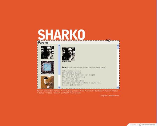 Sharko refonte du site internet et voil le travail - Rue de quesnoy wambrechies ...