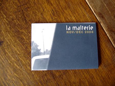 La malterie programme d cembre 2006 et voil le travail - Rue de quesnoy wambrechies ...